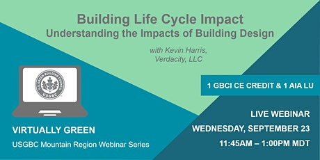 Building Life Cycle Impact: Understanding the Impacts of Building Design tickets