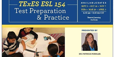 TExES ESL 154  Test Preparation & Practice (8:30am to 3:30pm CST) tickets