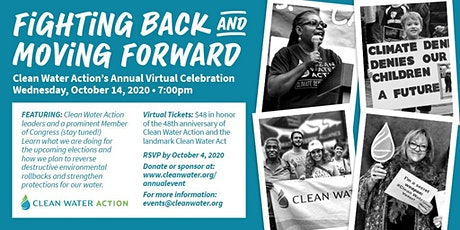 Clean Water Action's Annual Virtual Celebration tickets