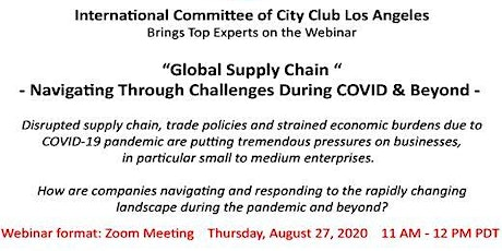 Global Supply Chain - Navigating Through Challenges During COVID & Beyond biglietti