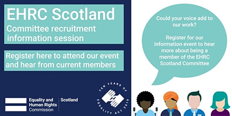 What does it mean to be a member of the EHRC Scotland Committee? tickets