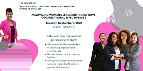 Maximize Women's Leadership to Improve Organizational Effectiveness tickets