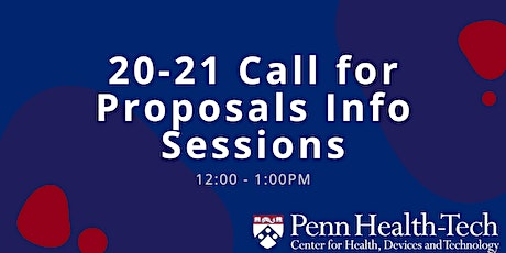 Penn Health-Tech Call for Proposals Info Session tickets