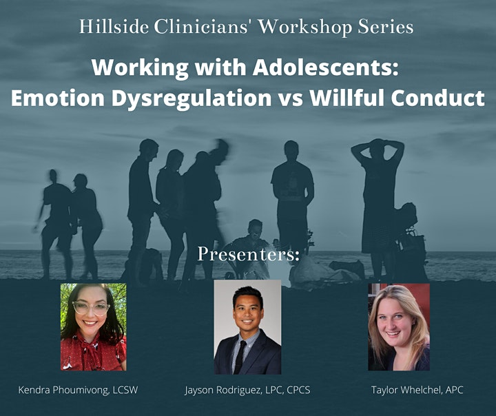 Working with Adolescents: Emotion Dysregulation vs Willful Conduct image