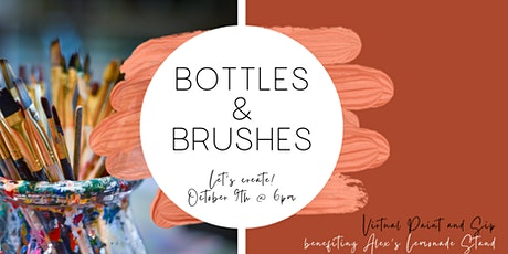 Virtual Paint And Sip: Bottles & Brushes tickets