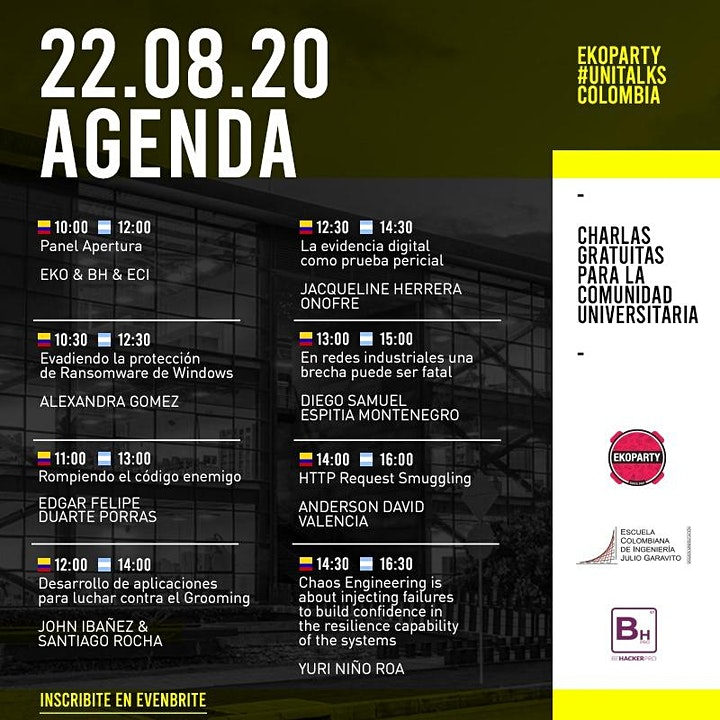 Imagen de Ekoparty University Talks Colombia 2020