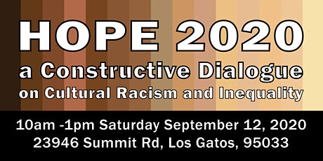 HOPE 2020 - A Constructive Dialogue on Cultural Racism and Inequality tickets