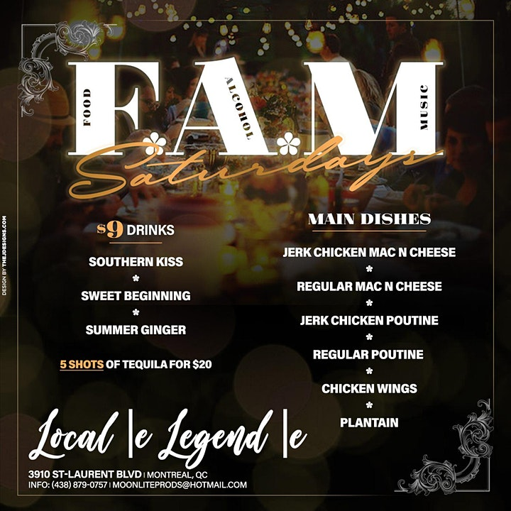 F.A.M Saturdays [Food*Alcohol*Music] image