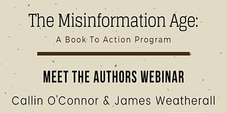Book to  Action Author Talk with Cailin O'Connor and James Owen Weatherall tickets