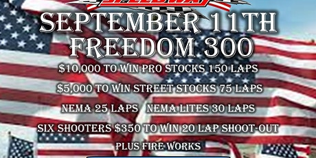 Freedom 300 tickets