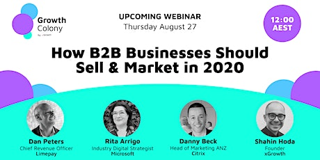 Webinar: How B2B Businesses Should Sell & Market in 2020 tickets