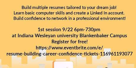 Resume Building & Career Confidence tickets