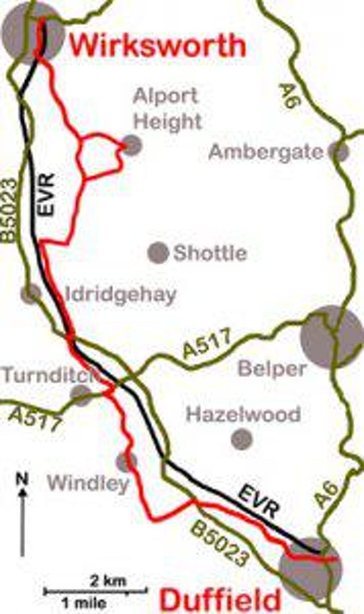 ECCLESBOURNE TRAIL WITH STEAM TRAIN EXPERIENCE (PEAK DISTRICT) image