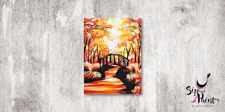 Sip & Paint MY @ Hubba Mont Kiara : Bridge Under The Autumn Trees tickets