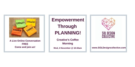 Online Creative's Coffee Morning: THE POWER OF PLANNING! tickets