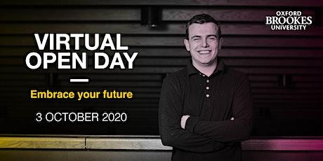 Oxford Brookes Undergraduate Virtual Open Day - 3 October 2020 tickets
