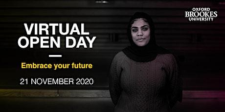 Oxford Brookes Undergraduate Virtual Open Day - 21 November 2020 tickets