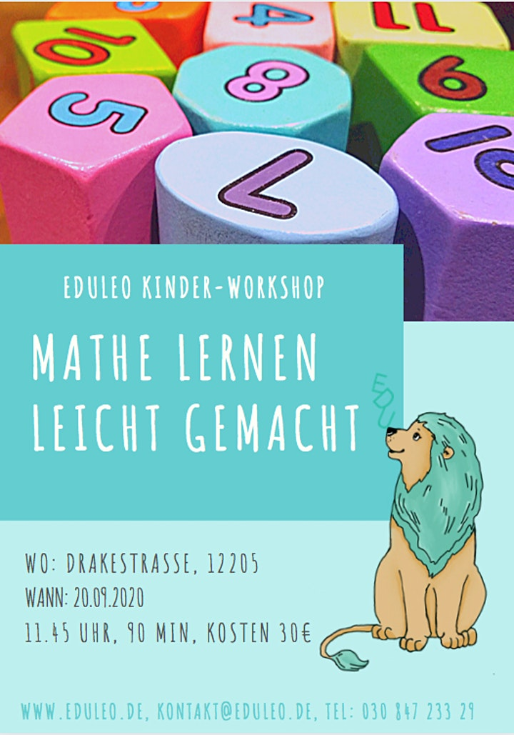 EDULEO Kinder-Workshops. Mathe lernen leicht gemacht: Bild