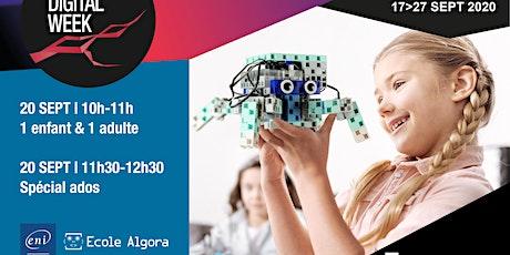 Atelier ados : programmation & échange sur les métiers du numérique-NDW2020 billets