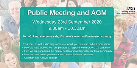 Public Meeting and AGM tickets
