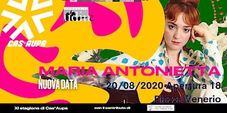 Maria Antonietta dal Vivo - Nuova Data biglietti