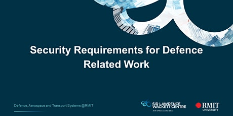 Security Requirements for Defence Related Work tickets