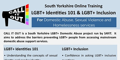 Call It Out Training: Part 1 - LGBT+ Identities 101 tickets