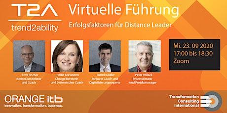 Virtuelle Führung – Erfolgsfaktoren für Distance Leader tickets