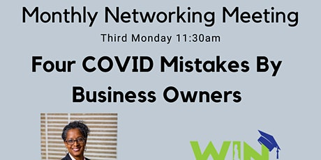 Four COVID Mistakes by Business Owners tickets