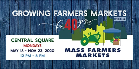 [August 24, 2020]  - Central Sq Farmers Market Shopper Reservation tickets