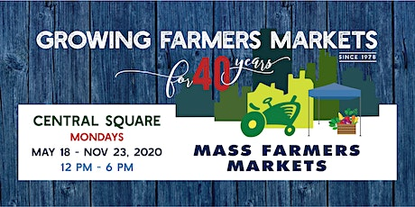 [August 31, 2020]  - Central Sq Farmers Market Shopper Reservation tickets