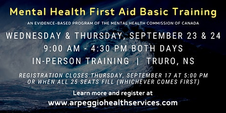 Mental Health First Aid Basic Training - Truro, NS tickets