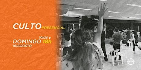 CULTO DE DOMINGO - 16/08/2020 ingressos