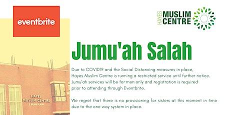 21 Aug - 1st Jummah - Check-in: 1pm - Salah: 1:30pm tickets