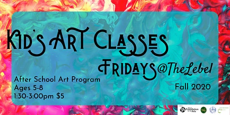 After School Art Program Ages 5-8  Fri. December 4th Rainy Days tickets