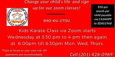 DAS Zoom Karate Class tickets