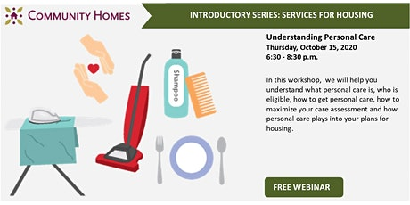 Understanding Personal Care Services 10/15/20 tickets