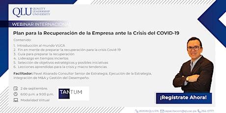 Webinar: Plan para la Recuperación de la Empresa ante la Crisis del COVID-1 entradas