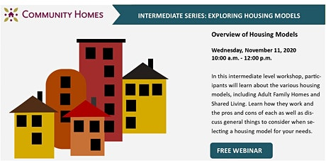 Overview of Housing Models 11/11/20 tickets