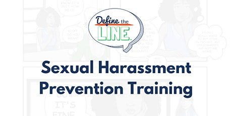 Sexual harassment prevention: Define the Line tickets