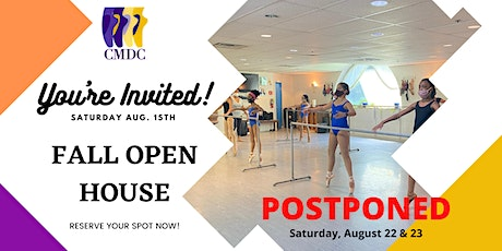 CMDC Fall Open House! NEW DATES tickets