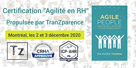 """Certification """"AGILITÉ en RH"""" - ICP-AHR billets"""