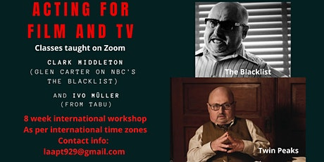 Introductory  8 week Workshop to Film and TV Acting with Clark Middleton tickets