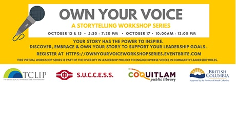 Own Your Voice: A Storytelling Workshop Series tickets