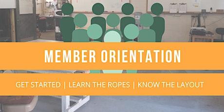 Member Orientation tickets