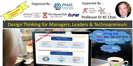 Design Thinking for Managers, Leaders & Technopreneurs (Webinar) billets