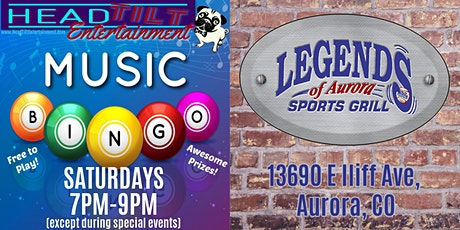 Music Bingo at Legends of Aurora Sports Grill tickets