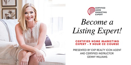 [9 HOURS REAL ESTATE CE] Certified Home Marketing Expert! tickets