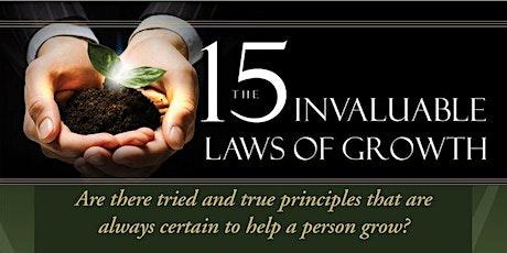 15 Invaluable Laws of Growth biglietti