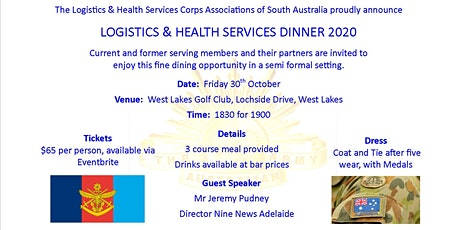 SA Logistics and Health Services Associations Dinner 2020 tickets